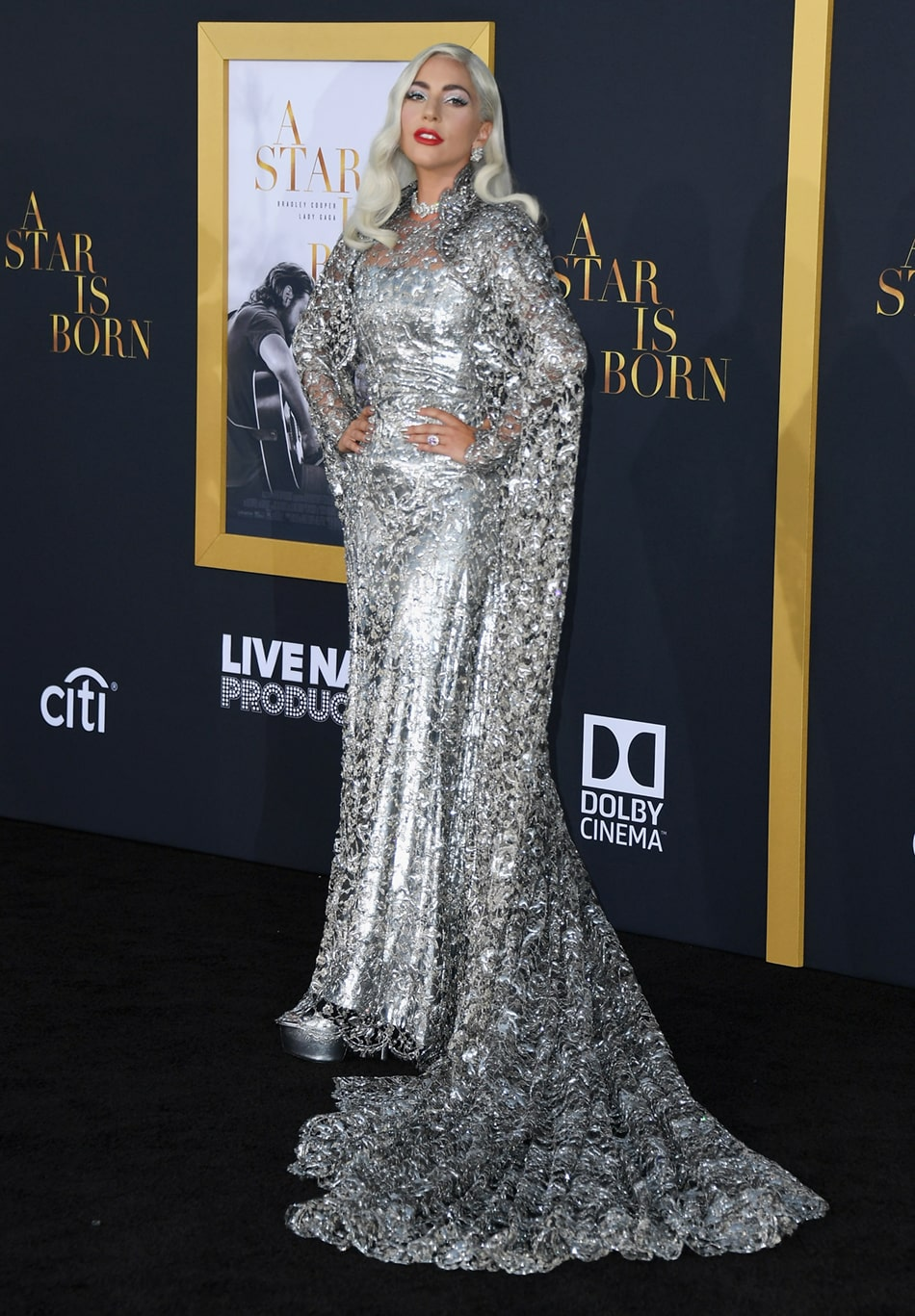 """Lady Gaga at the Premiere of """"A Star Is Born"""""""